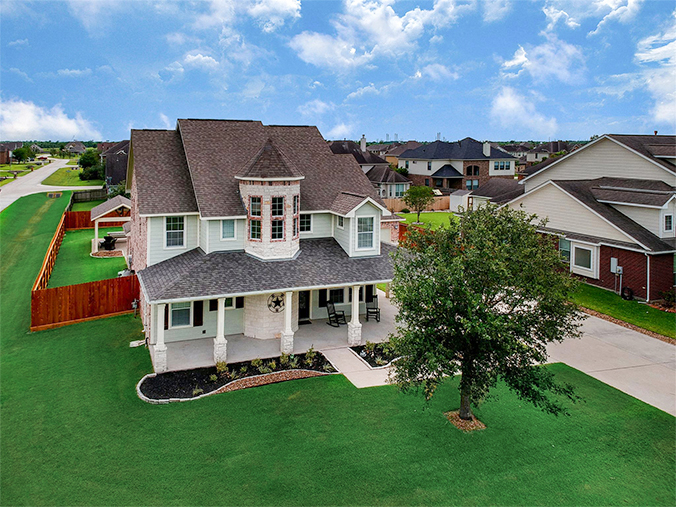 Kingwood, TX real estate drone photography